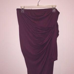 Long side wrap skirt